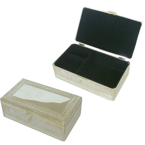 Engraved Vintage Jewelry Box for Earrings Necklaces