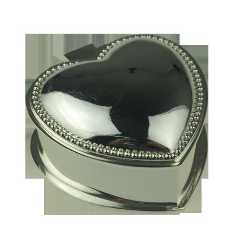 Elegant Heart Shape Wedding Jewellery Box for Ring