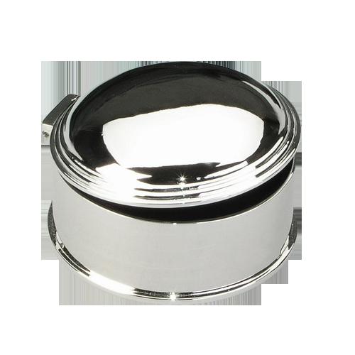European Style Silver Engagement Velvet Ring Box