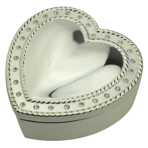 Metal Mirror Polish Cordiform Hat Jewelry Box