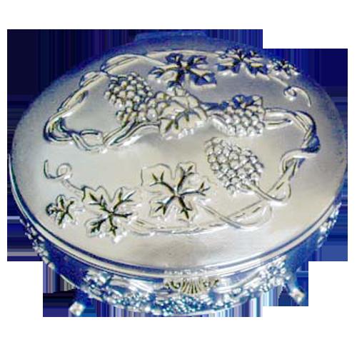Round Shape Antique Harvest Theme Jewelry Box