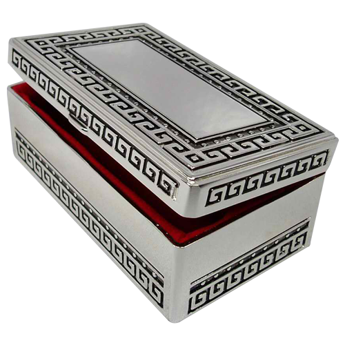 Large Silver Plated Necklace Jewelry Packaging Box