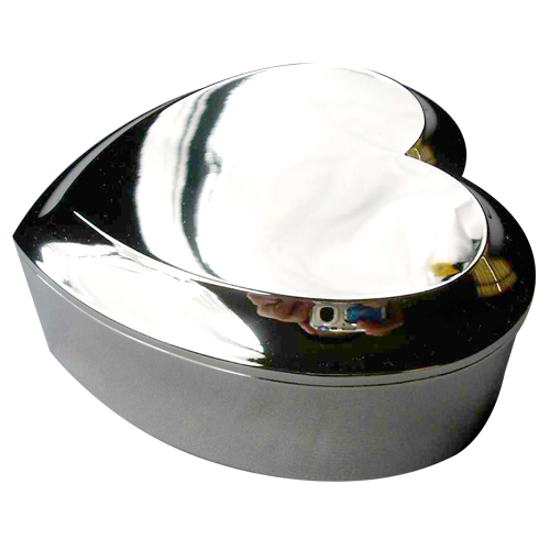 Custom Logo Laser Engraving Heart Jewelry Box