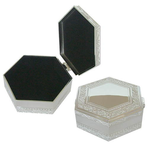 Pentagon Shaped Engraved Pattern Jewelry Box