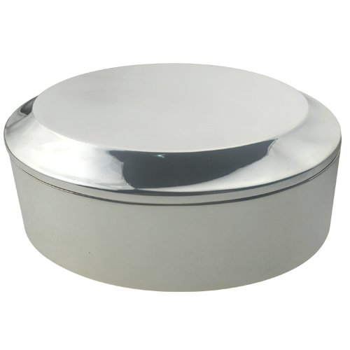 Engraved Oval Shape Silver Alloy Jewelry Box