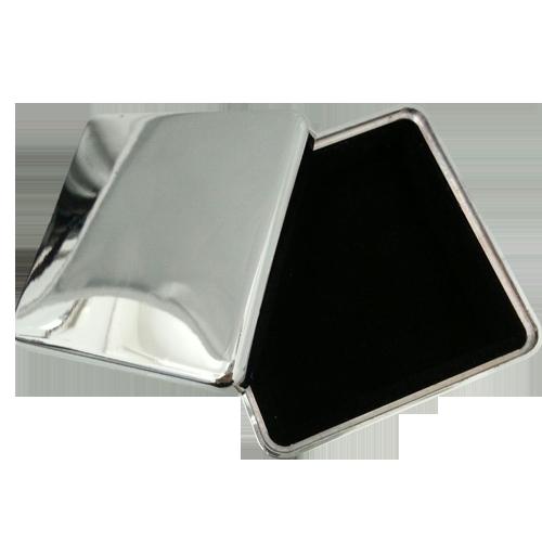 Elegant Silver Square Simple Design Jewelry Box