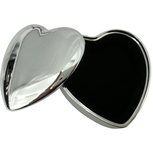Elegant Silver Heart Shaped Jewelry Box for Girls