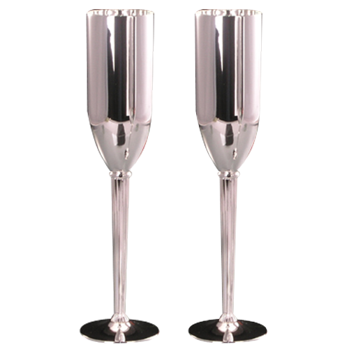 Silver Plated Champagne Glass with Logo Custom