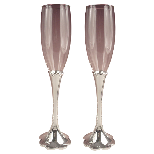 Tulip-shaped Champagne Glass with Polished Stem