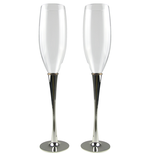 Simple Custom Champagne Flutes Customized Logo Available