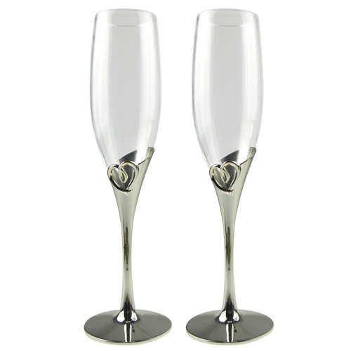 Newly Heart Shaped Champagne Glasses Flutes