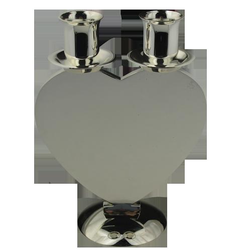 Heart Shape Double-Headed Custom Logo Candle Holder