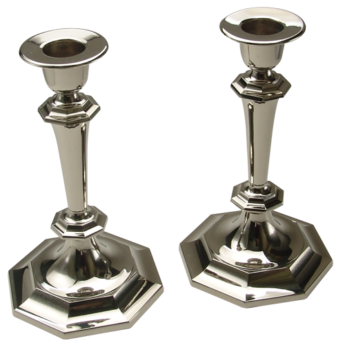 Set of Metal Silver Plated Candlesticks Gifts
