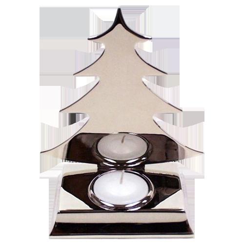 Silver Plated Christmas Fir Tree Tealight Holder