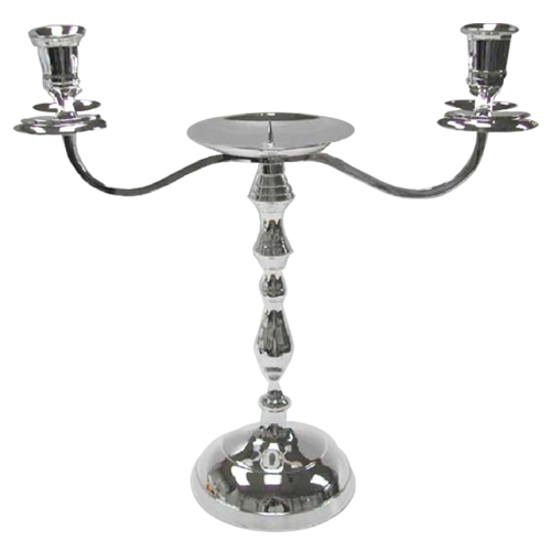 Home Decoration 3-Arm Silver Plating Candlestick