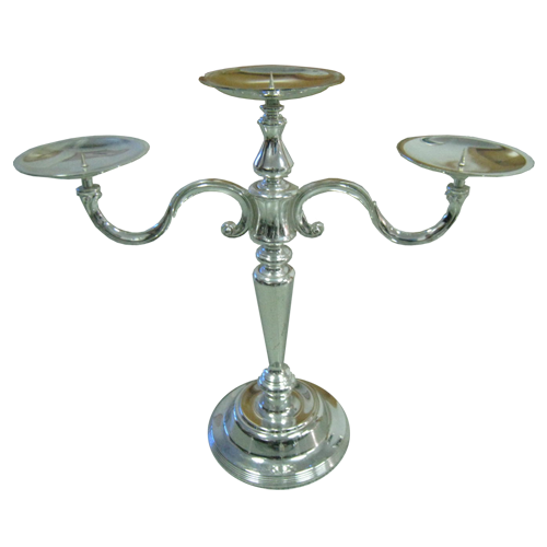 3 Arms Long Stem Candle Holder for Table Center