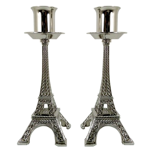 Unique Eiffel Tower Candlestick With Bronze Plating